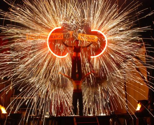 Das Abschlussbild unserer Feuershow